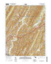 Evitts Creek Maryland Current topographic map, 1:24000 scale, 7.5 X 7.5 Minute, Year 2016