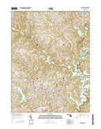 Finksburg Maryland Current topographic map, 1:24000 scale, 7.5 X 7.5 Minute, Year 2016 from Maryland Map Store