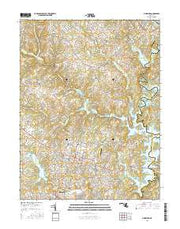 Finksburg Maryland Current topographic map, 1:24000 scale, 7.5 X 7.5 Minute, Year 2016 from Maryland Maps Store
