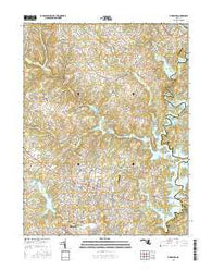 Finksburg Maryland Current topographic map, 1:24000 scale, 7.5 X 7.5 Minute, Year 2016