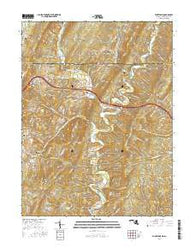 Flintstone Maryland Current topographic map, 1:24000 scale, 7.5 X 7.5 Minute, Year 2016