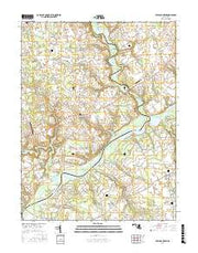 Fowling Creek Maryland Current topographic map, 1:24000 scale, 7.5 X 7.5 Minute, Year 2017 from Maryland Maps Store