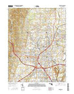 Frederick Maryland Current topographic map, 1:24000 scale, 7.5 X 7.5 Minute, Year 2016 from Maryland Map Store