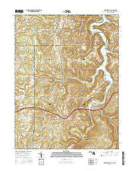 Friendsville Maryland Current topographic map, 1:24000 scale, 7.5 X 7.5 Minute, Year 2016