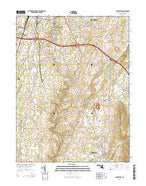 Funkstown Maryland Current topographic map, 1:24000 scale, 7.5 X 7.5 Minute, Year 2014 from Maryland Map Store