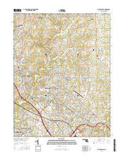 Gaithersburg Maryland Current topographic map, 1:24000 scale, 7.5 X 7.5 Minute, Year 2016 from Maryland Maps Store
