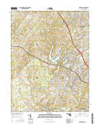 Germantown Maryland Current topographic map, 1:24000 scale, 7.5 X 7.5 Minute, Year 2016 from Maryland Map Store