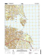 Gibson Island Maryland Current topographic map, 1:24000 scale, 7.5 X 7.5 Minute, Year 2017 from Maryland Map Store