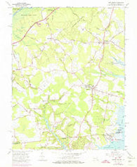 Girdletree Maryland Historical topographic map, 1:24000 scale, 7.5 X 7.5 Minute, Year 1966