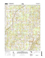 Goldsboro Maryland Current topographic map, 1:24000 scale, 7.5 X 7.5 Minute, Year 2017 from Maryland Map Store