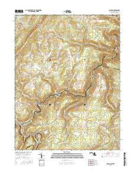 Gorman Maryland Current topographic map, 1:24000 scale, 7.5 X 7.5 Minute, Year 2016