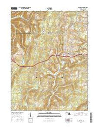Grantsville Maryland Current topographic map, 1:24000 scale, 7.5 X 7.5 Minute, Year 2016