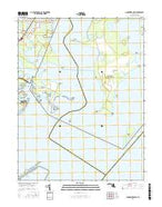 Gunpowder Neck Maryland Current topographic map, 1:24000 scale, 7.5 X 7.5 Minute, Year 2016 from Maryland Map Store