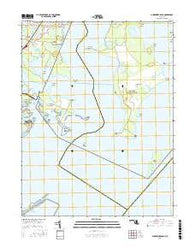 Gunpowder Neck Maryland Current topographic map, 1:24000 scale, 7.5 X 7.5 Minute, Year 2016