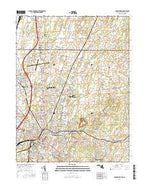 Hagerstown Maryland Current topographic map, 1:24000 scale, 7.5 X 7.5 Minute, Year 2016 from Maryland Map Store