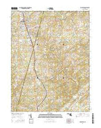Hampstead Maryland Current topographic map, 1:24000 scale, 7.5 X 7.5 Minute, Year 2016 from Maryland Map Store