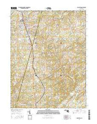 Hampstead Maryland Current topographic map, 1:24000 scale, 7.5 X 7.5 Minute, Year 2016