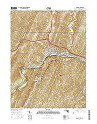 Hancock Maryland Current topographic map, 1:24000 scale, 7.5 X 7.5 Minute, Year 2016