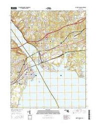 Havre De Grace Maryland Current topographic map, 1:24000 scale, 7.5 X 7.5 Minute, Year 2016