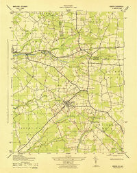 Hebron Maryland Historical topographic map, 1:31680 scale, 7.5 X 7.5 Minute, Year 1943