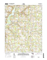Hobbs Maryland Current topographic map, 1:24000 scale, 7.5 X 7.5 Minute, Year 2017 from Maryland Maps Store