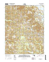Hollywood Maryland Current topographic map, 1:24000 scale, 7.5 X 7.5 Minute, Year 2016