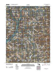 Hughesville Maryland Historical topographic map, 1:24000 scale, 7.5 X 7.5 Minute, Year 2011