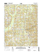 Hughesville Maryland Current topographic map, 1:24000 scale, 7.5 X 7.5 Minute, Year 2016 from Maryland Map Store