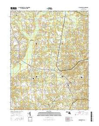 Hughesville Maryland Current topographic map, 1:24000 scale, 7.5 X 7.5 Minute, Year 2016