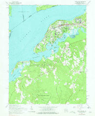 Indian Head Maryland Historical topographic map, 1:24000 scale, 7.5 X 7.5 Minute, Year 1966