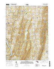 Keedysville Maryland Current topographic map, 1:24000 scale, 7.5 X 7.5 Minute, Year 2016 from Maryland Maps Store