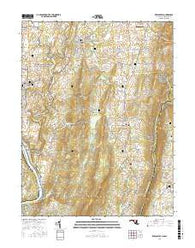 Keedysville Maryland Current topographic map, 1:24000 scale, 7.5 X 7.5 Minute, Year 2016