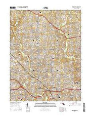 Kensington Maryland Current topographic map, 1:24000 scale, 7.5 X 7.5 Minute, Year 2016 from Maryland Maps Store