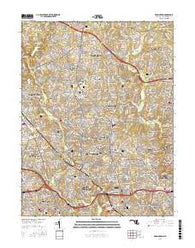 Kensington Maryland Current topographic map, 1:24000 scale, 7.5 X 7.5 Minute, Year 2016