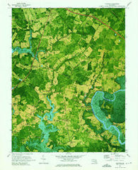 Kingston Maryland Historical topographic map, 1:24000 scale, 7.5 X 7.5 Minute, Year 1972