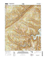 Kitzmiller Maryland Current topographic map, 1:24000 scale, 7.5 X 7.5 Minute, Year 2016