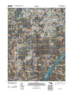 La Plata Maryland Historical topographic map, 1:24000 scale, 7.5 X 7.5 Minute, Year 2011
