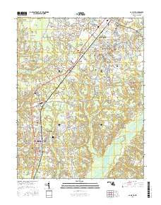 La Plata Maryland Current topographic map, 1:24000 scale, 7.5 X 7.5 Minute, Year 2016