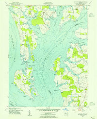 Langford Creek Maryland Historical topographic map, 1:24000 scale, 7.5 X 7.5 Minute, Year 1954