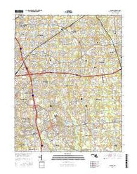Lanham Maryland Current topographic map, 1:24000 scale, 7.5 X 7.5 Minute, Year 2016