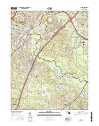Laurel Maryland Current topographic map, 1:24000 scale, 7.5 X 7.5 Minute, Year 2016