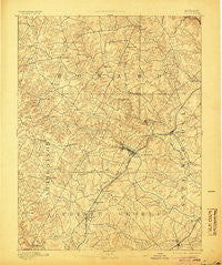 Laurel Maryland Historical topographic map, 1:62500 scale, 15 X 15 Minute, Year 1894
