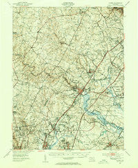 Laurel Maryland Historical topographic map, 1:62500 scale, 15 X 15 Minute, Year 1949