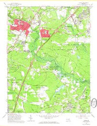 Laurel Maryland Historical topographic map, 1:24000 scale, 7.5 X 7.5 Minute, Year 1965