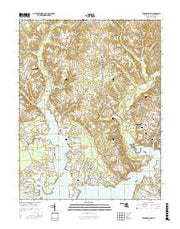 Leonardtown Maryland Current topographic map, 1:24000 scale, 7.5 X 7.5 Minute, Year 2016 from Maryland Maps Store