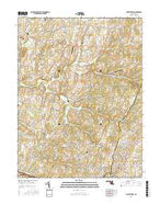 Libertytown Maryland Current topographic map, 1:24000 scale, 7.5 X 7.5 Minute, Year 2016 from Maryland Map Store