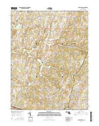 Libertytown Maryland Current topographic map, 1:24000 scale, 7.5 X 7.5 Minute, Year 2016