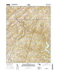 Lineboro Maryland Current topographic map, 1:24000 scale, 7.5 X 7.5 Minute, Year 2016