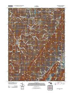 Lonaconing Maryland Historical topographic map, 1:24000 scale, 7.5 X 7.5 Minute, Year 2011