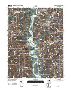 Lower Marlboro Maryland Historical topographic map, 1:24000 scale, 7.5 X 7.5 Minute, Year 2011